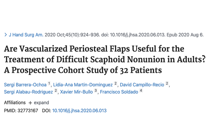 Are Vascularized Periosteal Flaps Useful for the Treatment of Difficult Scaphoid Nonunion in Adults